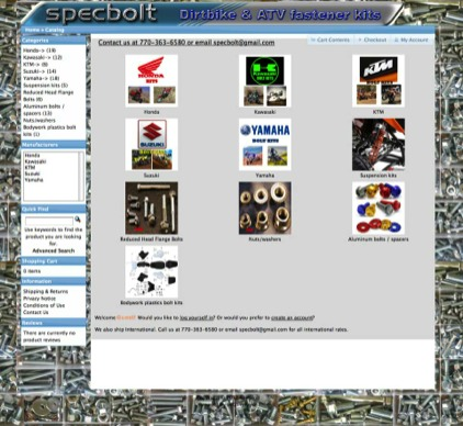 Specbolt_Website - web design by Carlsbad Websites Web Design